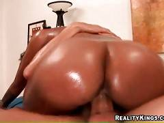 Sweet chocolate chick really loves good cock riding.