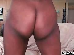 Beautiful ebony girl slowly strips to show her hot slim body.