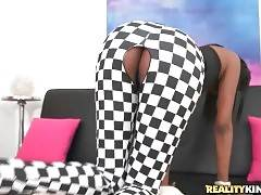 Hot looking ebony chick demonstrates her awesome juicy ass.